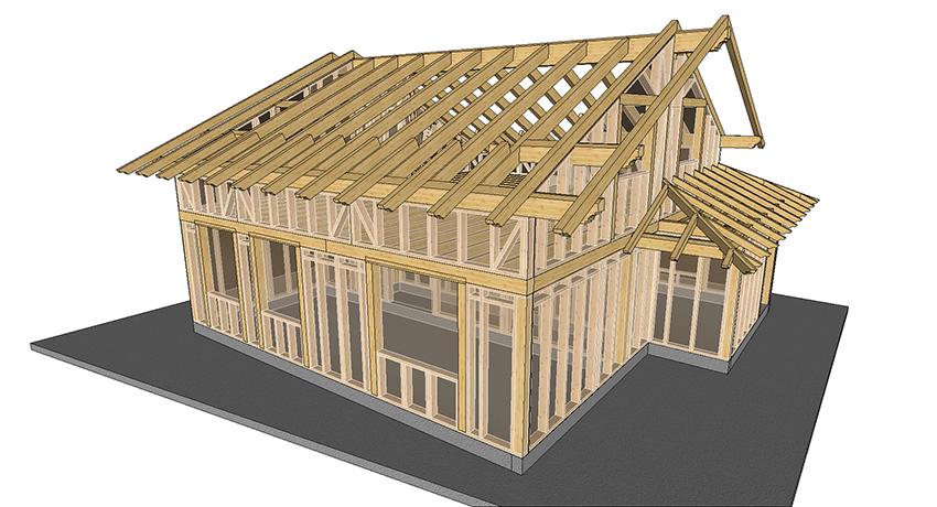 I dettagli della costruzione in legno